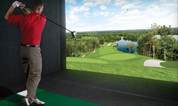 City Tee Time - The Loop: Simulated Golf for One or Four at City Tee Time (Up to 63% Off). Four Options Available.