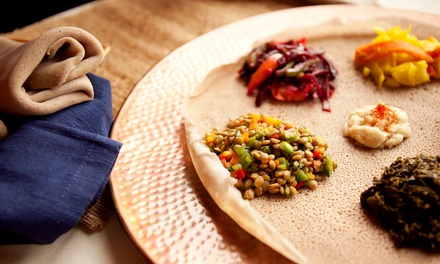 Ethiopian Cuisine for Two, Three, or More at Skyline Cafe (Up to 43% Off)