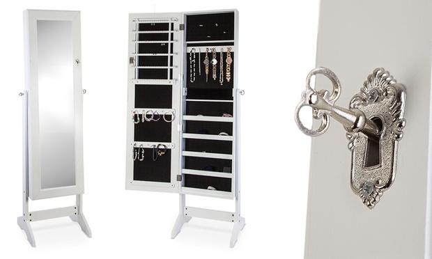 schmuckfach mit spiegel groupon goods. Black Bedroom Furniture Sets. Home Design Ideas