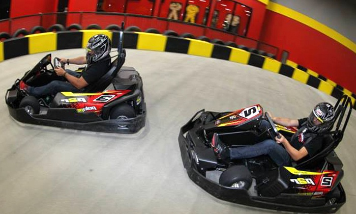 Pole Position Raceway - Southbelt/ Ellington: Three Drop-In Go-Kart Races for One or Two at Pole Position Raceway (Up to 47% Off). Three Options Available.