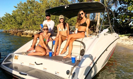Two-, Four or Eight-Hour Boat Rental with Captain at Go Florida Boating (Up to 61% Off)