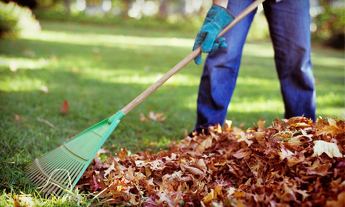 Happy Homes - Milwaukee: 3.5 Man-Hours, 5.5 Man-Hours, or 8 Man-Hours of Fall Yard Cleanup from Happy Homes (Up to 60% Off)