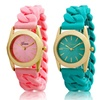 Geneva Women's Braided-Silicone Watches