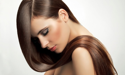 Haircut with Optional Full Color, Partial Highlights, or Keratin Treatment at Medusa Hair Salon (Up to 52% Off)