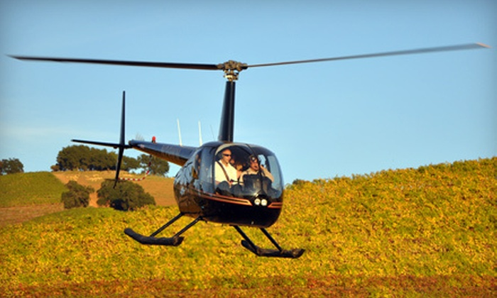 Heloventure - Napa: $249 for a Helicopter Tour with Mimosas for Up to Three People from Heloventure (Up to $747 Value)