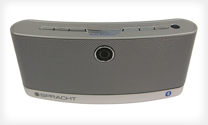 Portable Wireless Bluetooth Speaker: $44 for a Spracht Aura BluNote Portable Wireless Speaker ($99 List Price). Free Shipping and Free Returns.