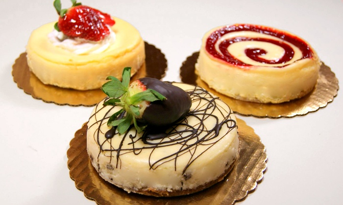 Lutz Café & Pastry Shop - Ravenswood: Three Mini Cheesecakes or $5.50 for $10 worth of German Pastries at Lutz Café & Pastry Shop