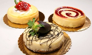 Lutz Café & Pastry Shop: Three Mini Cheesecakes or $5.50 for $10 worth of German Pastries at Lutz Café & Pastry Shop