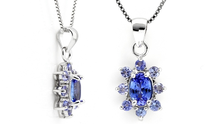 Groupon Goods: Oval Tanzanite Necklace and Pendant for R799.99 Including Delivery (69% Off)