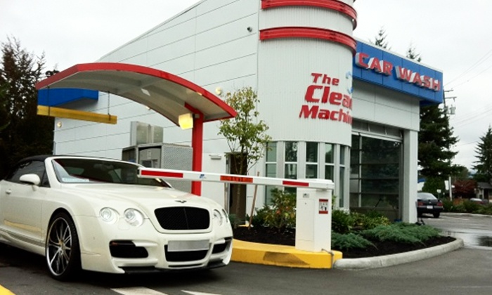 The Clean Machine - Coquitlam: Two or Four Gold Car-Wash Packages at The Clean Machine (50% Off)