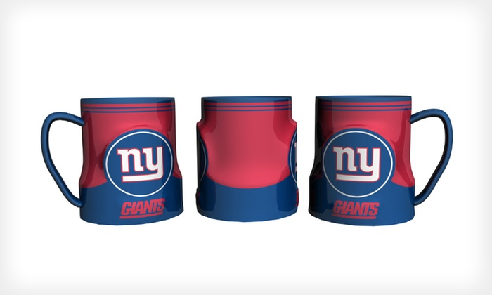 Ceramic NFL Mugs: $19 for a Two-Pack of GameTime Sculpted Ceramic NFL Mugs ($34.99 List Price). 25 Teams Available. Free Shipping.