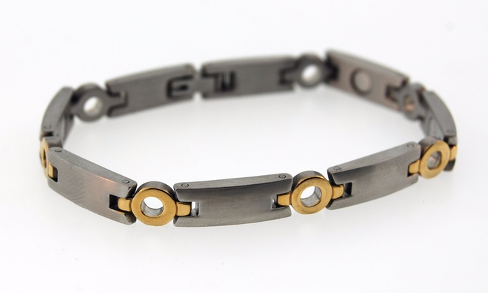 Jeffrey Scott Fine Magnetics Silver Canyon One Two Toned Magnetic Bracelet At