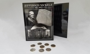 1938-2003 Jefferson Nickel Collection Folder with 8 Nickels