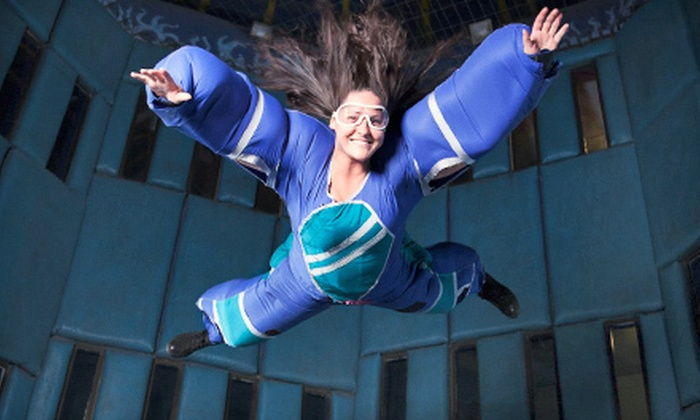 Vegas Indoor Skydiving - The Strip: Indoor Skydiving Flight for One or Five with DVD and Action Shots at Vegas Indoor Skydiving (Up to 48% Off)