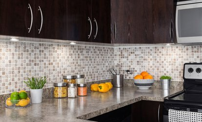 Wood Cabinets from DL Granite & Cabinet, Inc. (Up to 40% Off). Two Options Available.