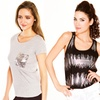 Just One Women's Sequin Tank or Sequin-Pocket T-Shirt