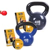 GoFit Classic Vinyl-Coated Kettlebell with Fitness DVD