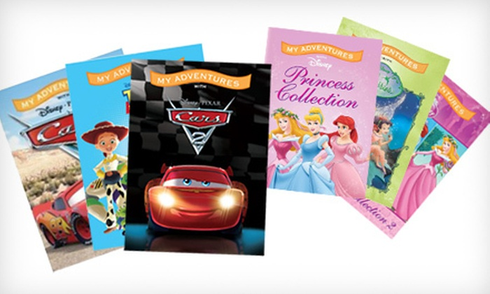 """Personalized Disney Storybooks: $25 for Three Personalized Disney 8⅞"""" x 6½"""" Storybooks for Boys or Girls. Shipping Included ($44.96 Total)."""