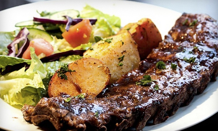 Purple Olive Grill - West End: Three-Course Dinner for Two, Valid Monday–Thursday or Friday–Saturday at Purple Olive Grill (Up to 51% Off)