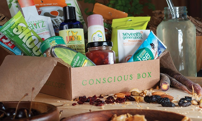 Conscious box subscriptions groupon goods monthly delivery of eco friendly natural products from conscious box eco friendly negle Choice Image