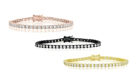 Sterling Silver 10-CTTW Lab Created Diamond Tennis Bracelets