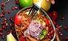 Syrische Salat-Bowl mit Saft