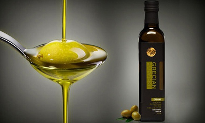 Grecian Harvest: One or Two 500 mL Bottles of Organic Olive Oil at Grecian Harvest (Up to 68% Off)