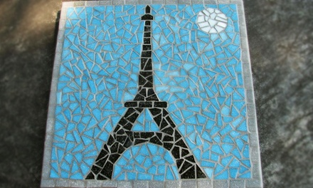 Make a Mosaic Trivet or Wrought-Iron Side Table at Mosaic Beach Studio (Up to 50% Off)