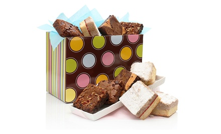 David's Cookies Polka Dot Box with a Brownie and Crumbcake Assortment