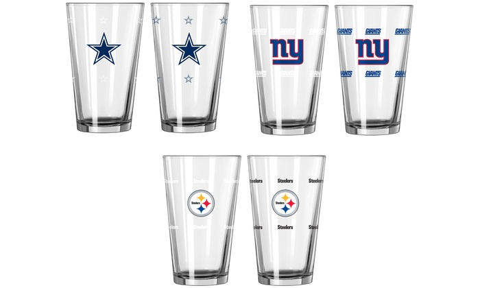 NFL Color-Changing Pint Glass (2-Pack): NFL Color-Changing Pint Glass (2-Pack)