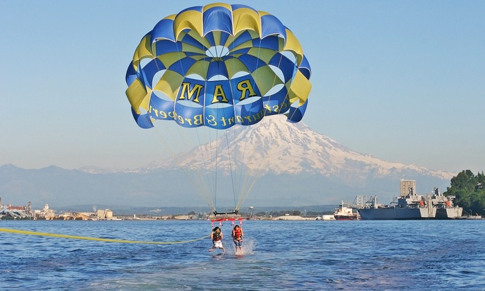 Pacific Parasail - Ram Restaurant : 1,000 Foot Parasailing Experience for One or Two with 25-Picture SD Card from Pacific Parasail (40% Off)