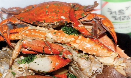$12 for $20 Worth of Cajun Seafood and Drinks at Crabaholic in San Jose