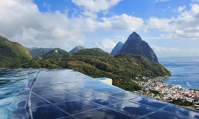 St Lucia Resort Overlooking Caribbean Sea