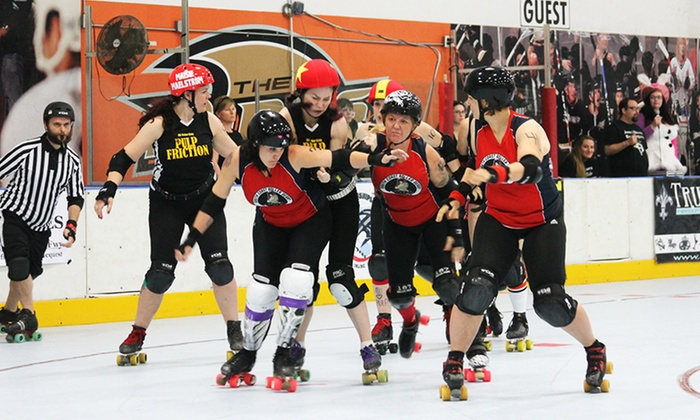 OC Roller Derby - The Rinks - Huntington Beach: Orange County Roller Girls Roller-Derby Bout, or One Month of Roller-Derby Classes (Up to 69% Off)