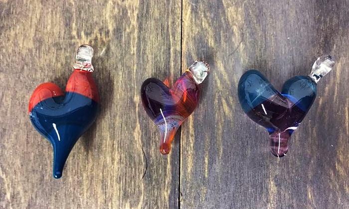 Valentine's Heart Pendant: 41% Off Hand-Blown Glass Heart Pendants for Valentine's Day