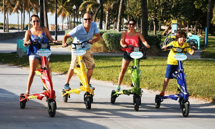 South Florida Trikke - Flamingo / Lummus: $25 for a Two-Hour Motorized-Trikke Rental from South Florida Trikke ($50 Value)