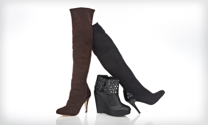 Charles by Charles David Women's Boots: Charles by Charles David Women's Black or Brown Over-the-Knee Boots or Black Booties (Up to 85% Off). Free Shipping.