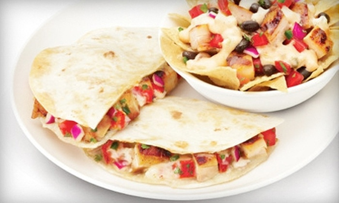 Qdoba Mexican Grill- Grandview and Graceland - Multiple Locations: Five Entrees or Hot-Bar Catering for 20 from Qdoba Mexican Grill- Grandview and Graceland (Up to 53% Off)