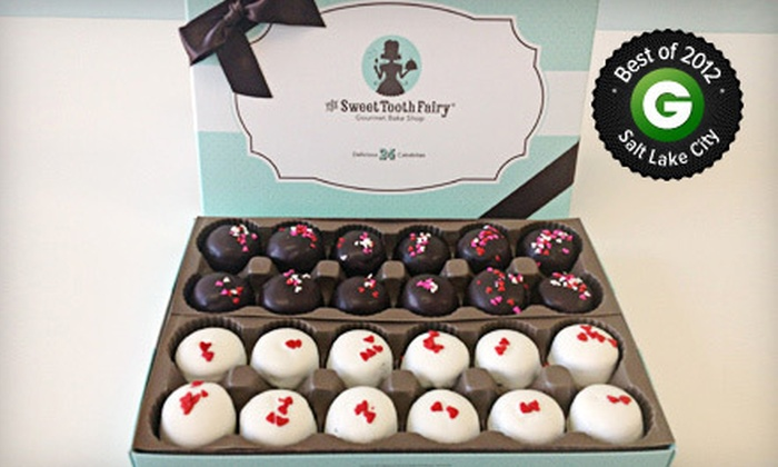 The Sweet Tooth Fairy - Multiple Locations: $12 for One Gift Box with 24 Red-Velvet and Double-Fudge Cakebites at The Sweet Tooth Fairy ($24.95 Value)