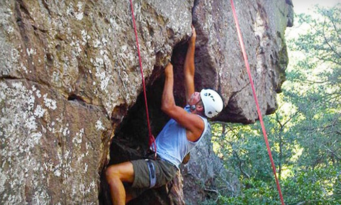 Northeast Mountain Guiding - Hardwick: Introductory Rock-Climbing Course for One or Two from Northeast Mountain Guiding in Byram Township (Up to 80% Off)