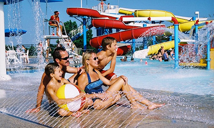 Wet Zone - Pecan Grove Park: Water-Park Entry and Hot Dogs, French Fries, and Souvenir Cups for Two, Four, or Six at Wet Zone (Up to Half Off)