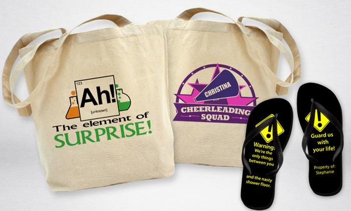 CafePress: Tote Bag or Flip-Flops from CafePress (Up to 52% Off)