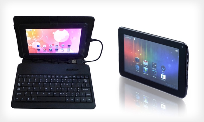 "Double Power 7"" Tablet with Leather Keyboard Case: $79.99 for a Double Power D7015K 7"" Tablet with Leather Keyboard Case ($139.98 List Price). Free Shipping and Returns."