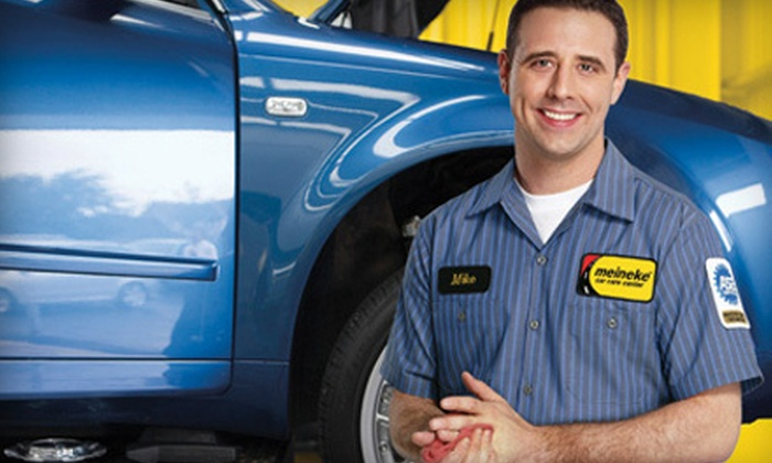 Meineke Car Care Center - San Antonio: $14 for an Oil Change and Tire Rotation at Meineke Car Care Center ($49.95 Value)