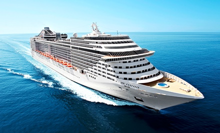 7-Night Mediterranean Cruise from MSC Cruises. Price per Person Based on Double Occupancy.