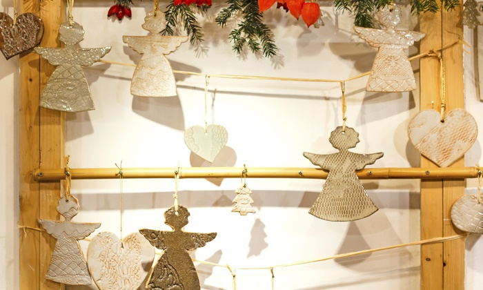 The ClayGround Studio & Gallery - Ellicott City: $19 for a BYOB Holiday Ornament-Making Class at The ClayGround Studio & Gallery ($40 Value)