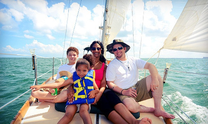 Sailing on Biscayne Bay - Northeast Coconut Grove: Two-Hour Semiprivate Sail for One or Three-Hour Semiprivate Sail for Four from Sailing on Biscayne Bay (Up to 68% Off)