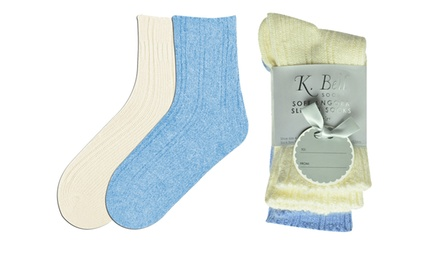 K. Bell 4-Pack Gift Set of Women's Angora Socks