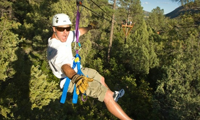 Full Blast Adventure Center - Durango: Two-Hour Ponderosa Zipline Tour for Two or Four from Full Blast Adventure Center (Up to 55% Off)
