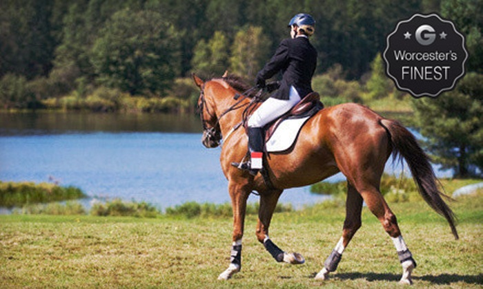 Legacy Stables - Mendon: Two or Four Private Horseback-Riding Lessons or Private Riding Party at Legacy Stables (Up to 62% Off)